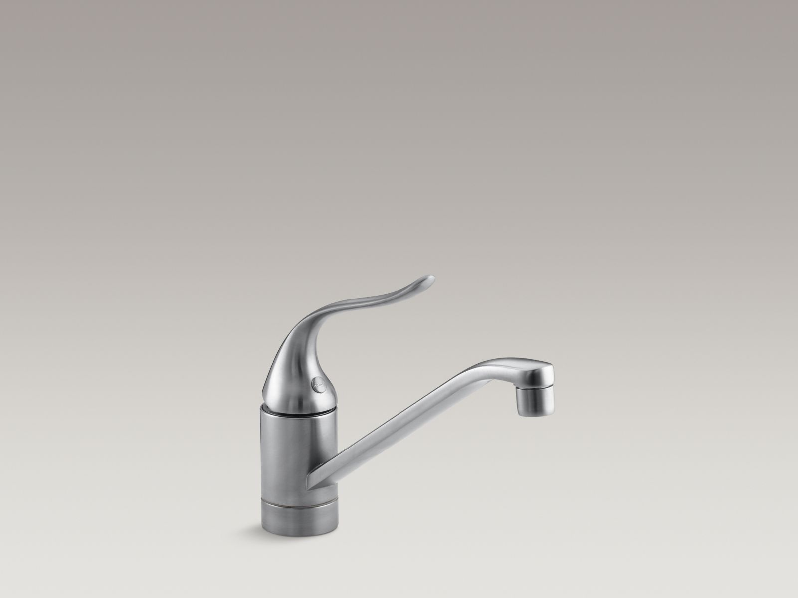 """Kohler K-15175-F-G Coralais Single-handle Kitchen Faucet with 8-1/2"""" Spout and Lever Handle Brushed Chrome"""