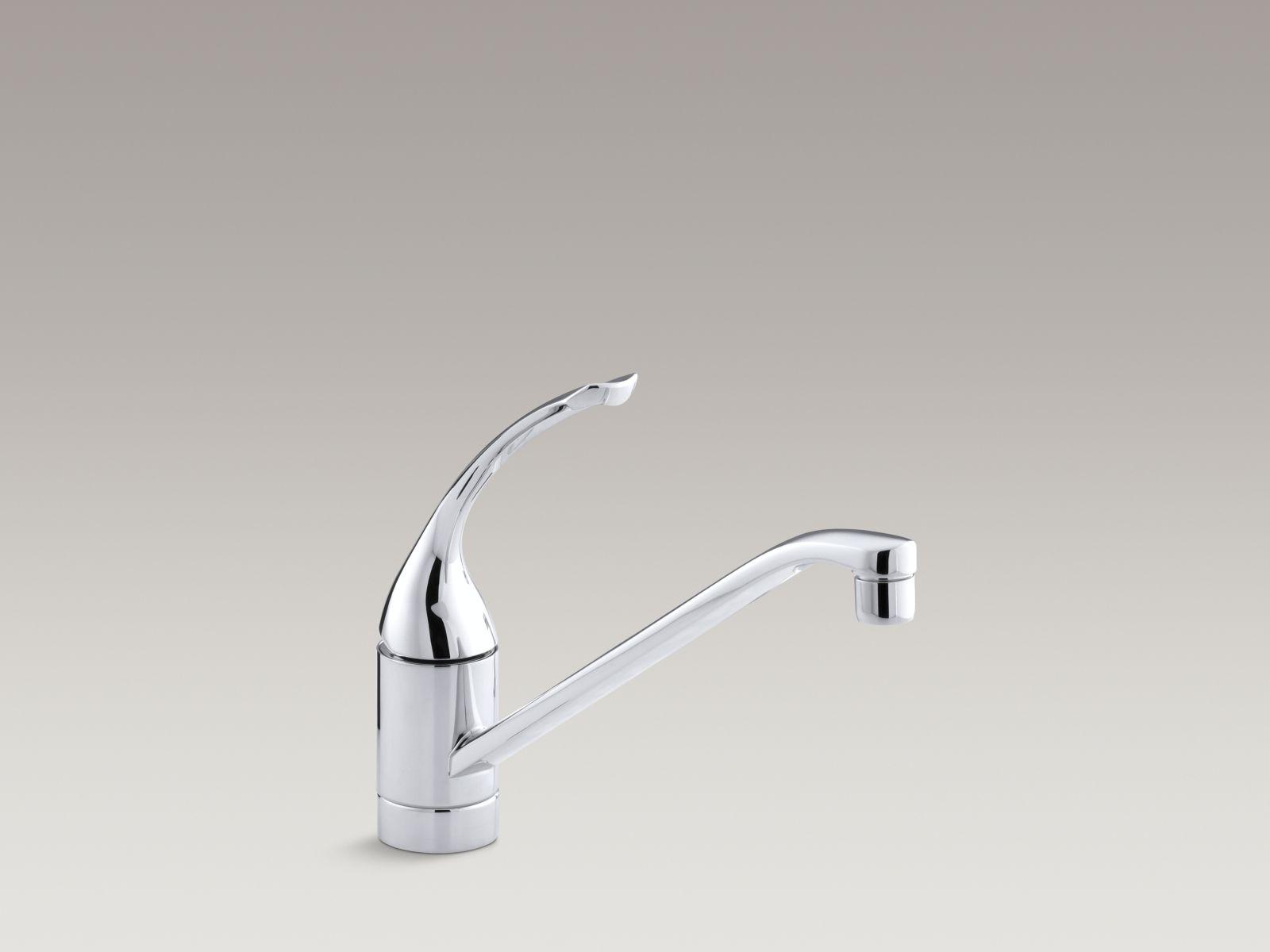 "Kohler K-15175-FL-CP Coralais Single-handle Kitchen Faucet with 10"" Spout and Loop Handle Polished Chrome"