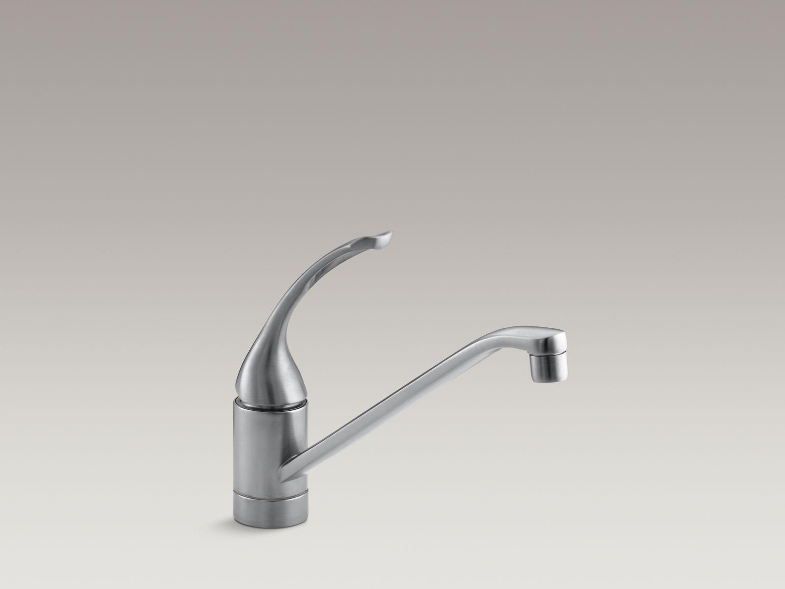 "Kohler K-15175-FL-G Coralais Single-handle Kitchen Faucet with 10"" Spout and Loop Handle Brushed Chrome"