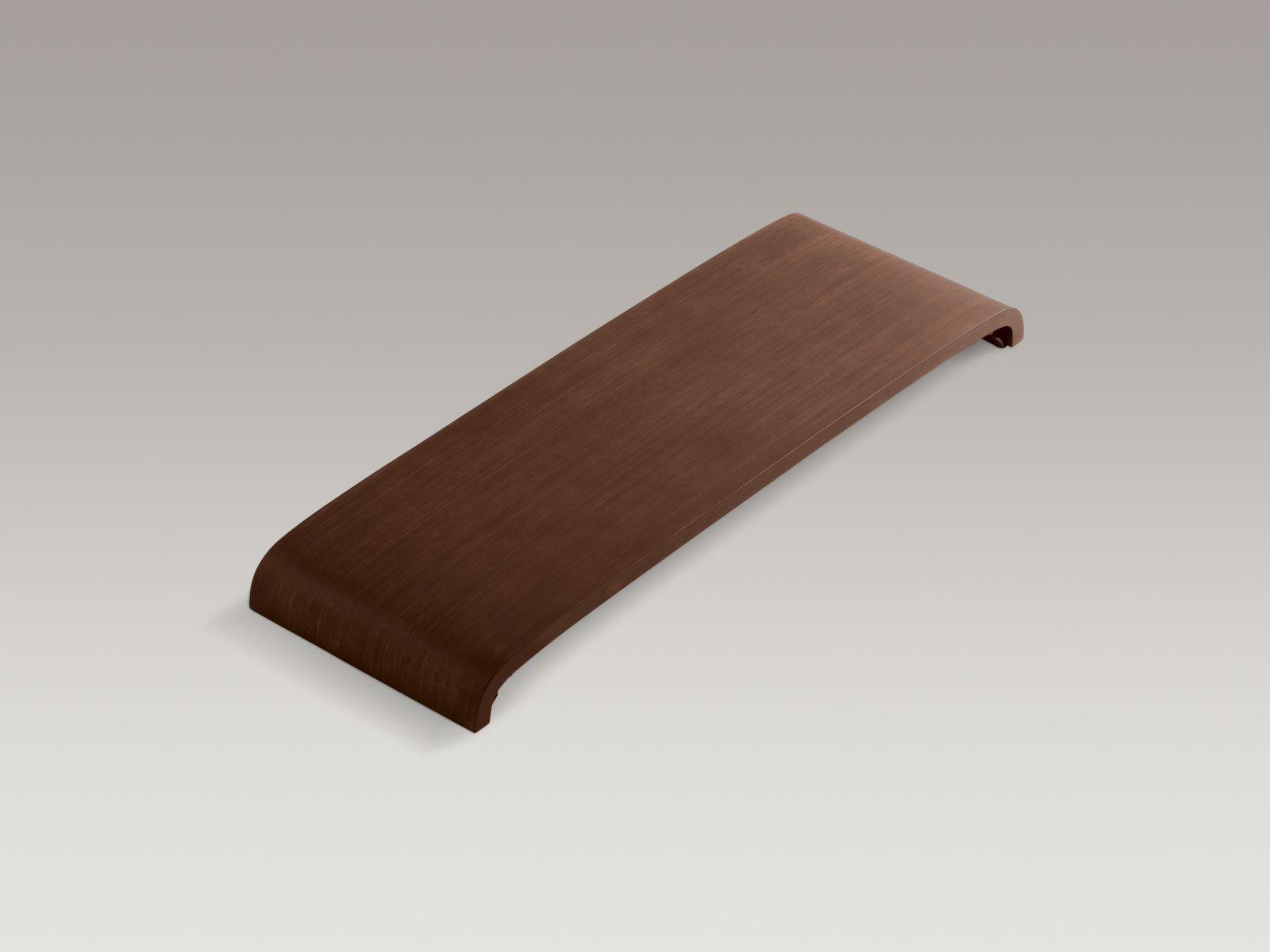 Kohler K-1844-LAW Parity Removable Wood Bath Seat Antique Walnut