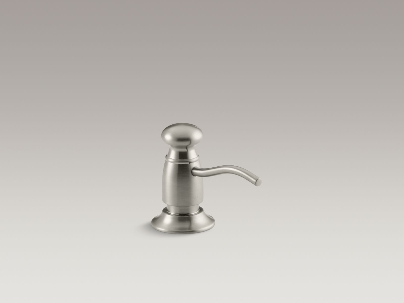 Kohler K-1894-C-BN Traditional Clam Shell Packed Soap or Lotion Dispenser Brushed Nickel
