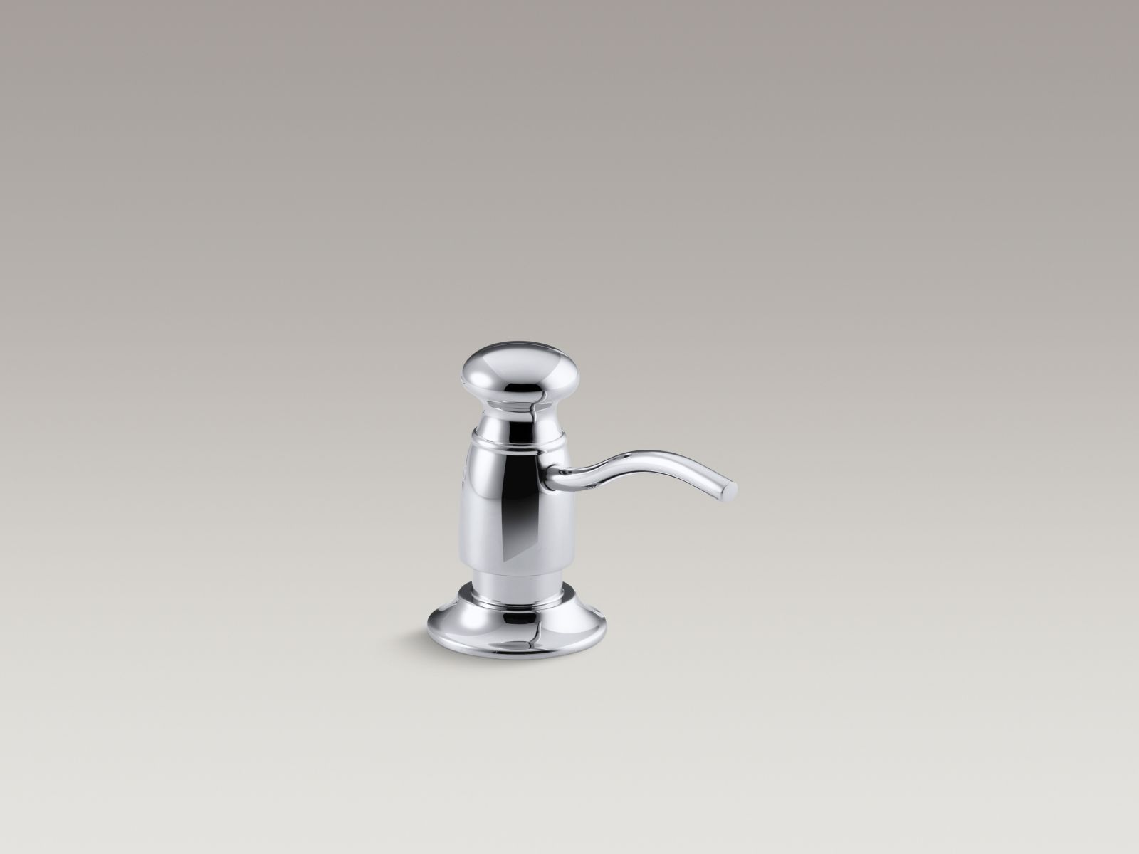 Kohler K-1894-C-CP Traditional Clam Shell Packed Soap or Lotion Dispenser Polished Chrome