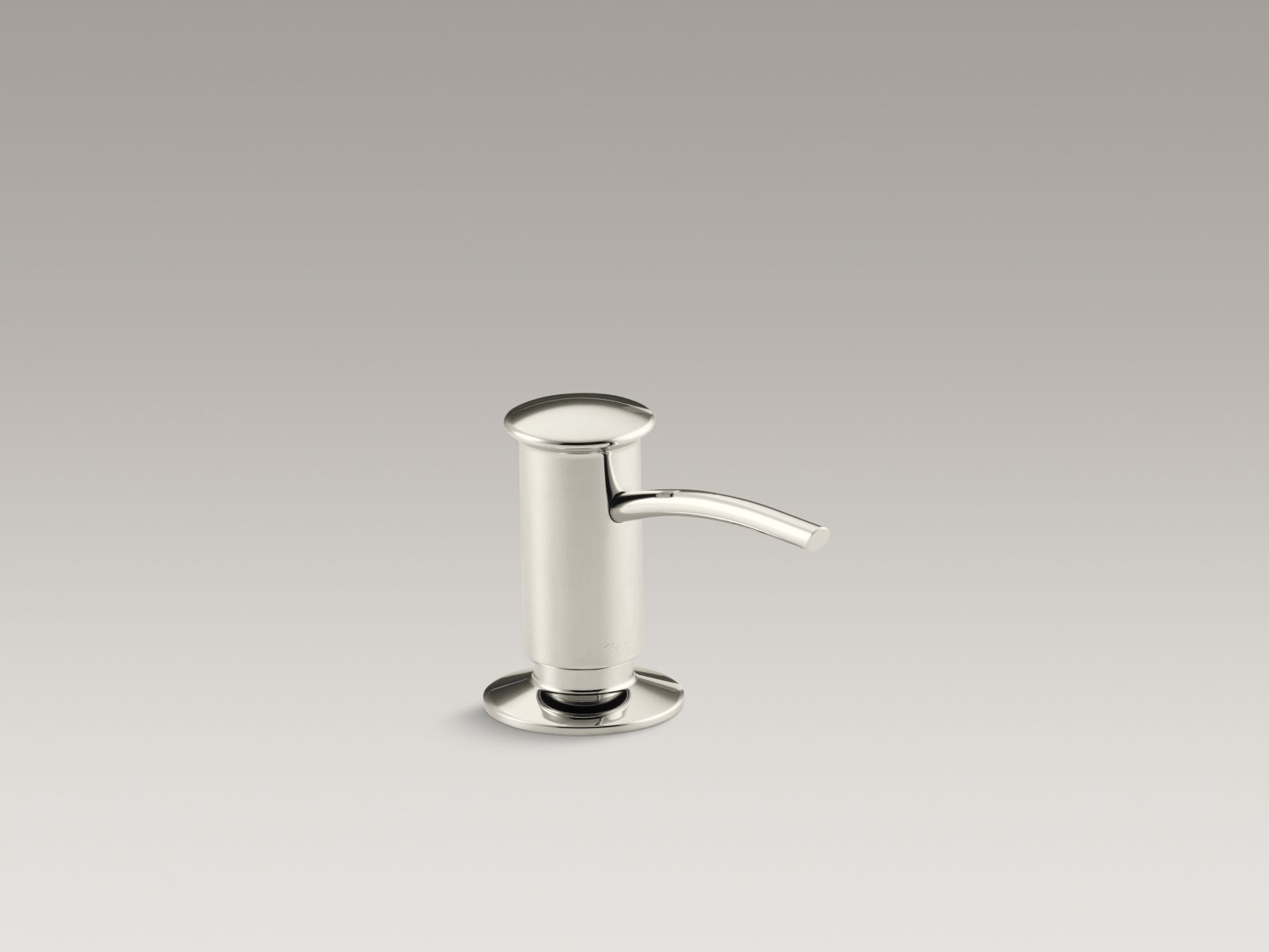 Kohler K-1895-C-SN Contemporary Design Clam Shell Packed Soap or Lotion Dispenser Polished Nickel