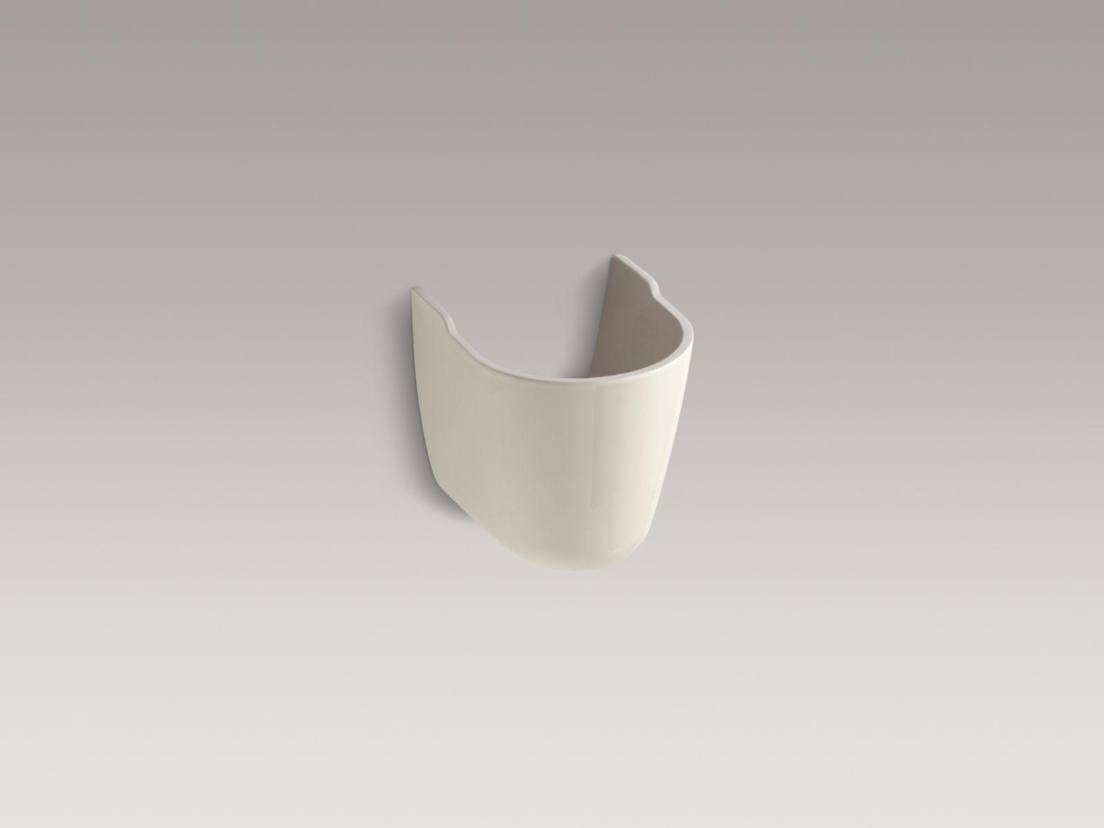 Kohler K-1998-47 Brenham Shroud for Wall-mounted Bathroom Sinks Almond