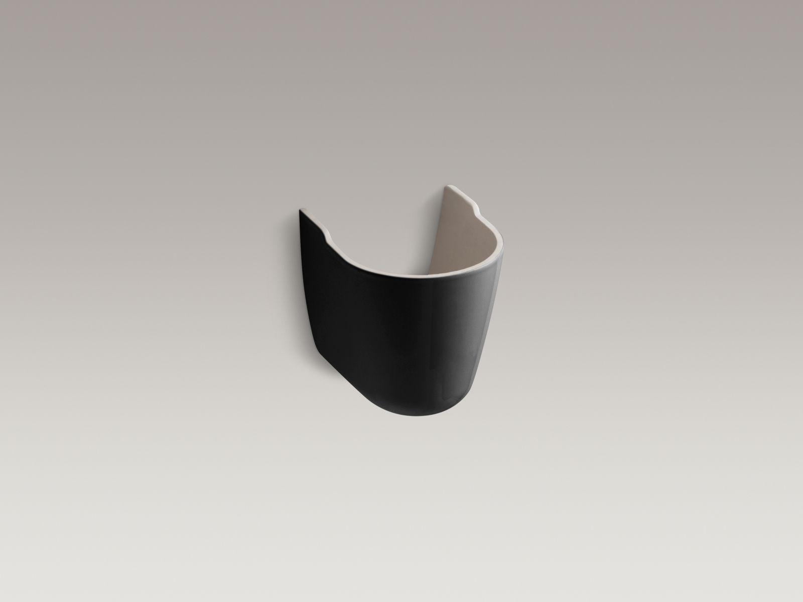 Kohler K-1998-7 Brenham Shroud for Wall-mounted Bathroom Sinks Black Black