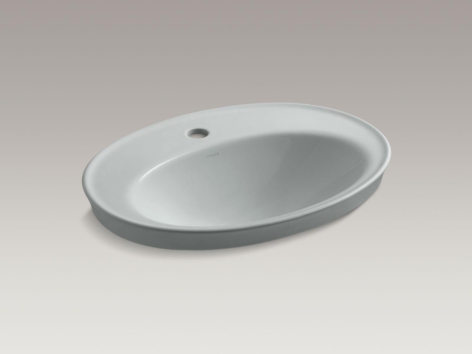 Kohler K-2075-1-95 Serif Self-Rimming Lavatory Ice Grey
