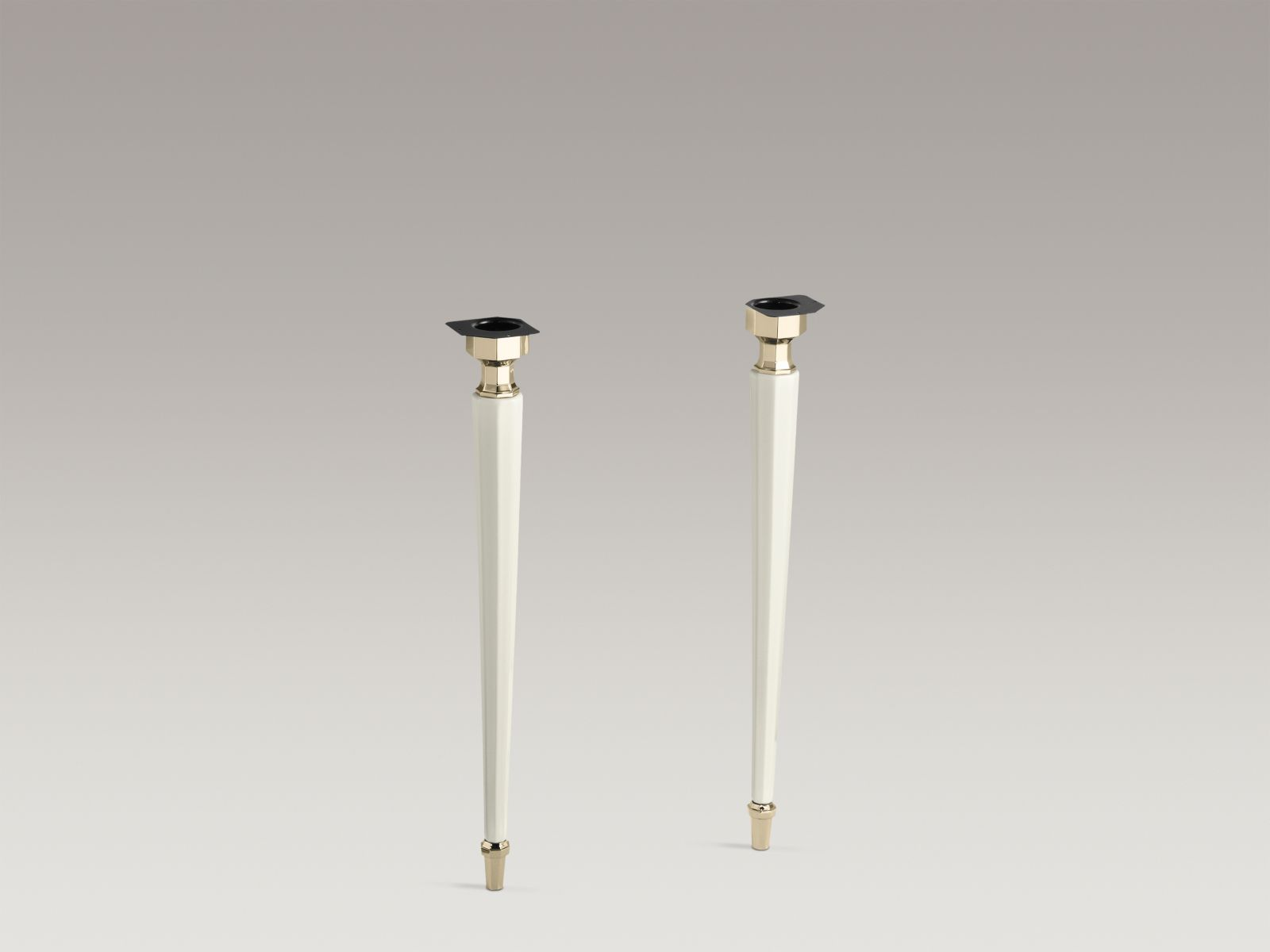 Kohler K-2317-AF-96 Kathryn Octagonal Fireclay Legs with Vibrant French Gold Trim Biscuit