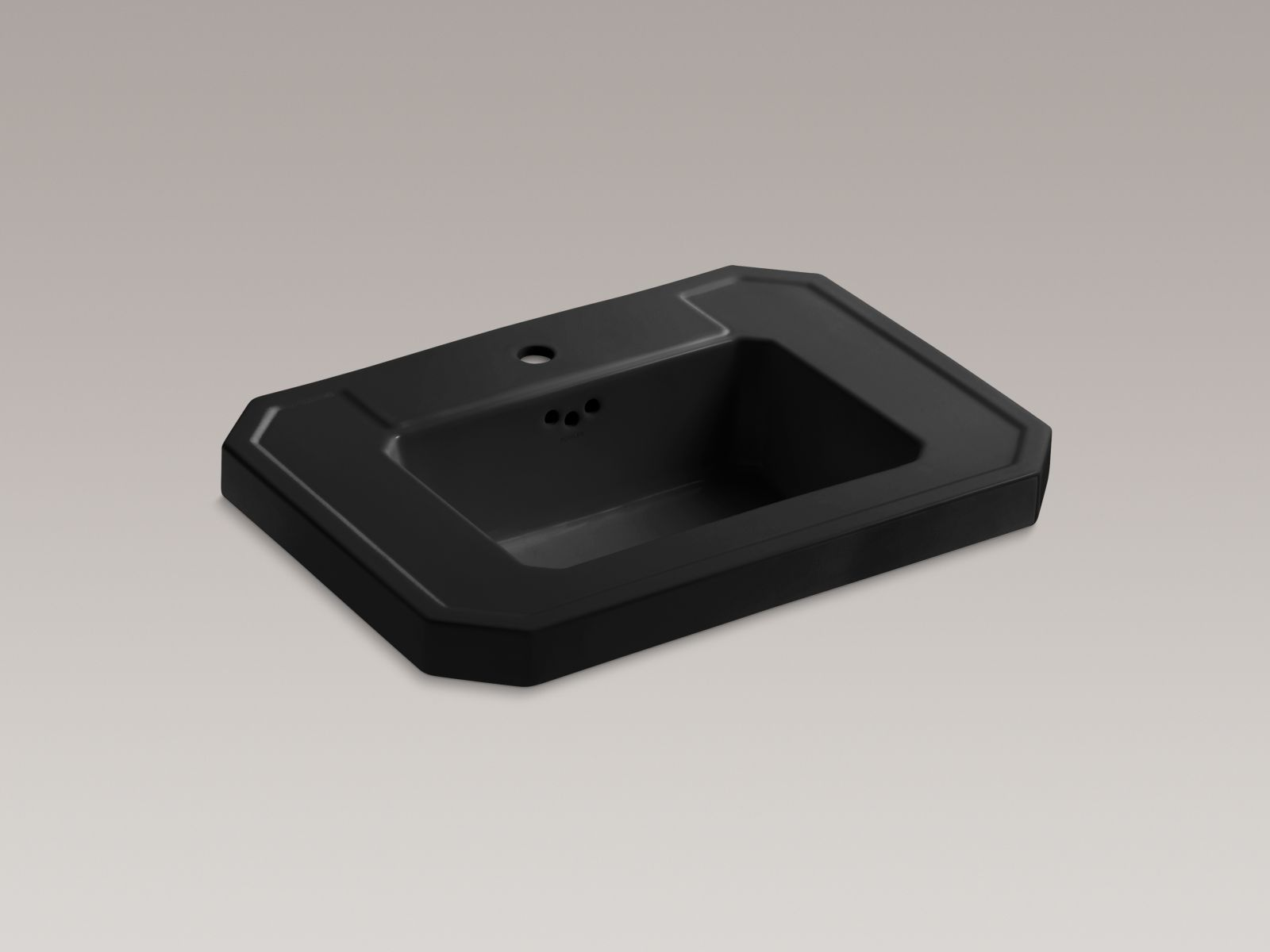Kohler Kathryn® K-2323-1-7 Bathroom sink basin with single faucet hole Black Black