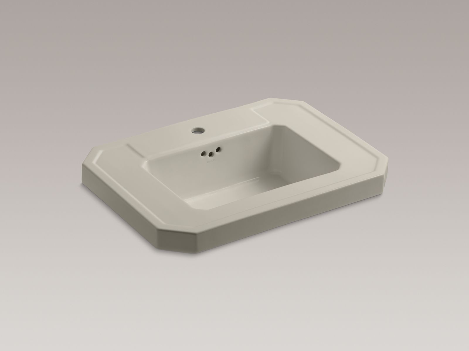 Kohler Kathryn® K-2323-1-G9 Bathroom sink basin with single faucet hole Sandbar