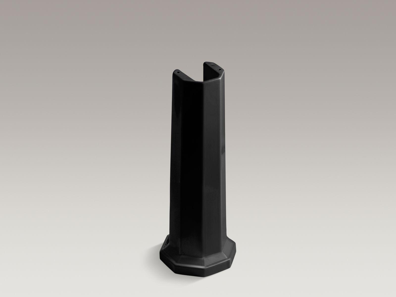 Kohler K-2324-7 Kathryn Lavatory Pedestal Black Black