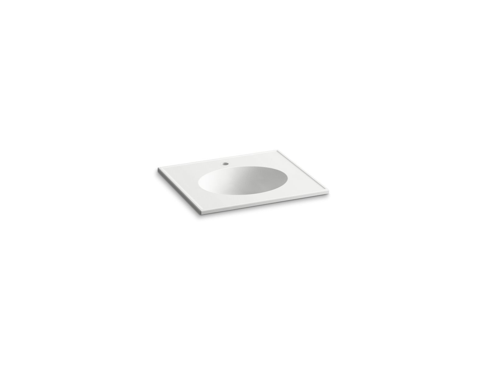 "Kohler Ceramic/Impressions™ K-2791-1-G81 25"" oval vanity-top bathroom sink with single faucet hole White Impressions"