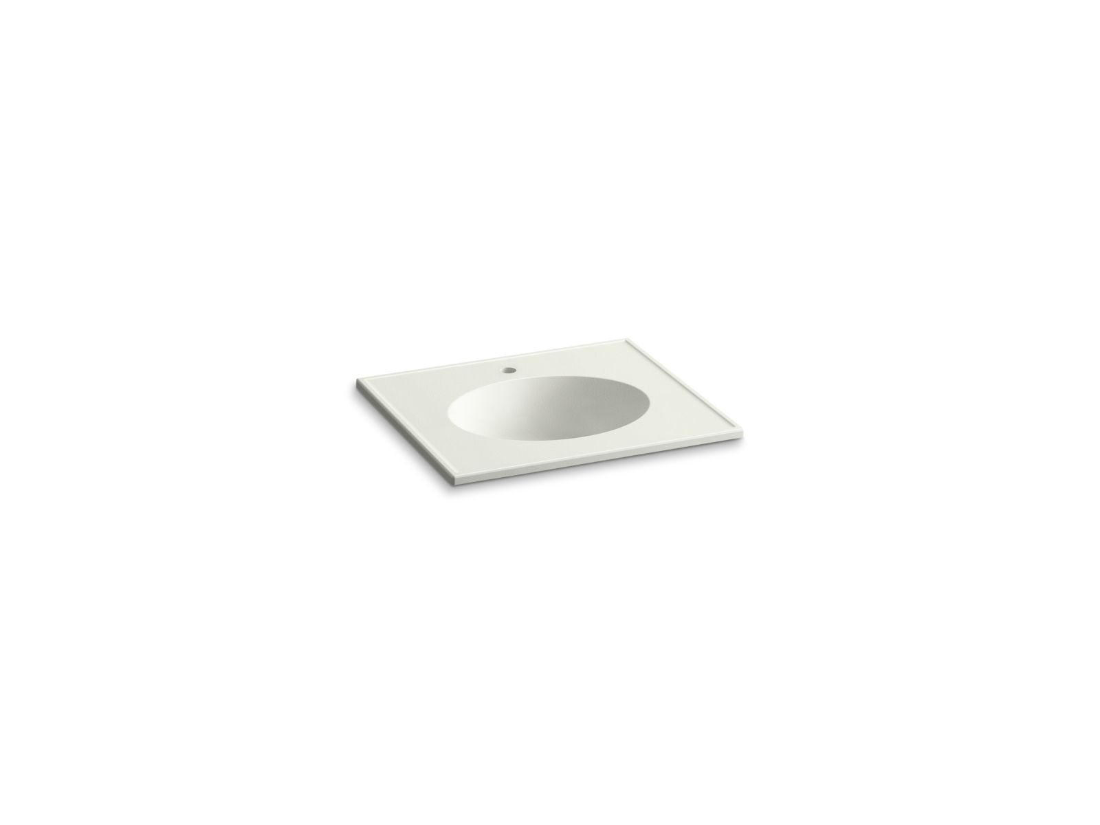 "Kohler Ceramic/Impressions™ K-2791-1-G82 25"" oval vanity-top bathroom sink with single faucet hole Dune Impressions"