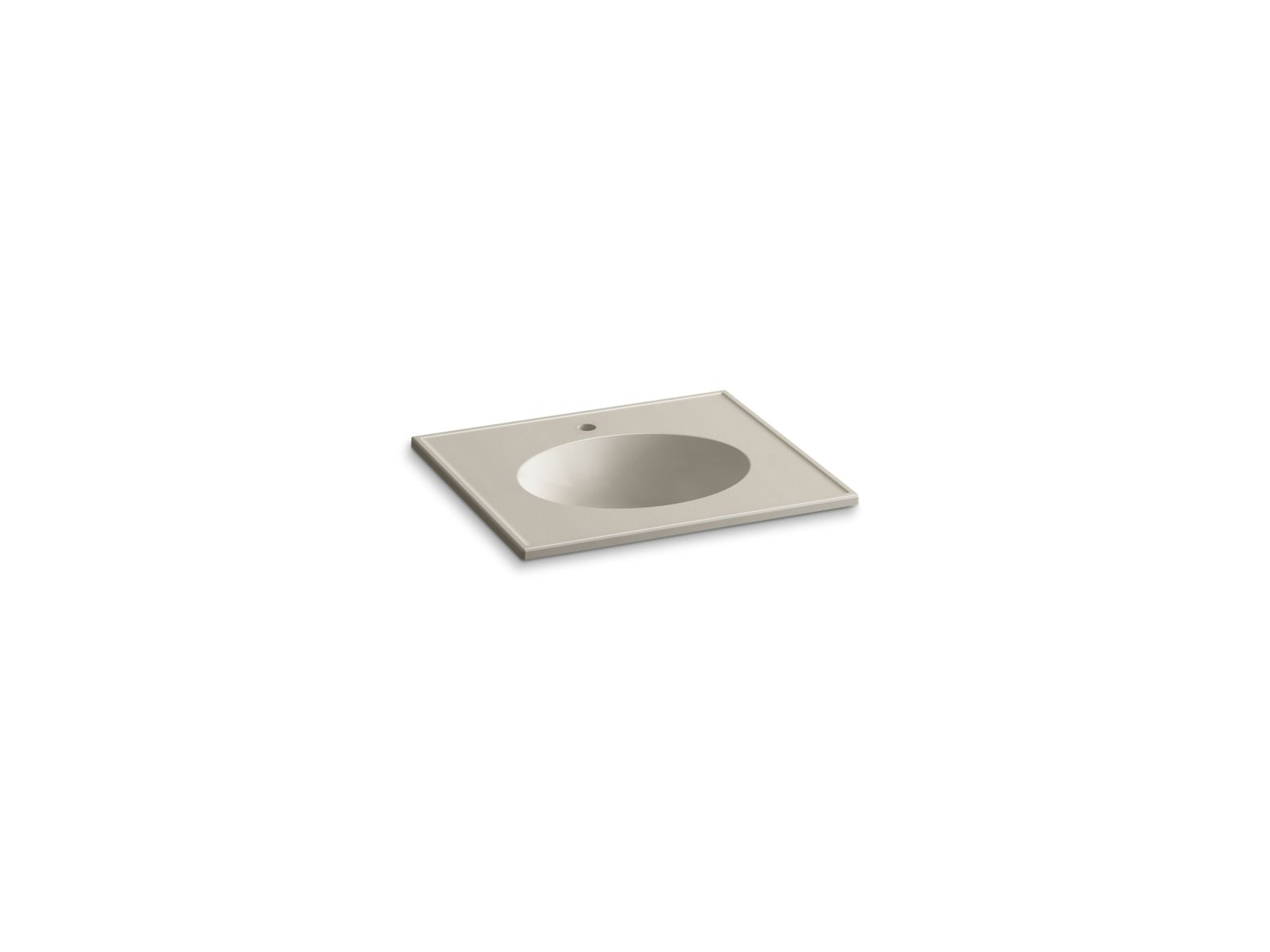 "Kohler Ceramic/Impressions™ K-2791-1-G85 25"" oval vanity-top bathroom sink with single faucet hole Sandbar Impressions"
