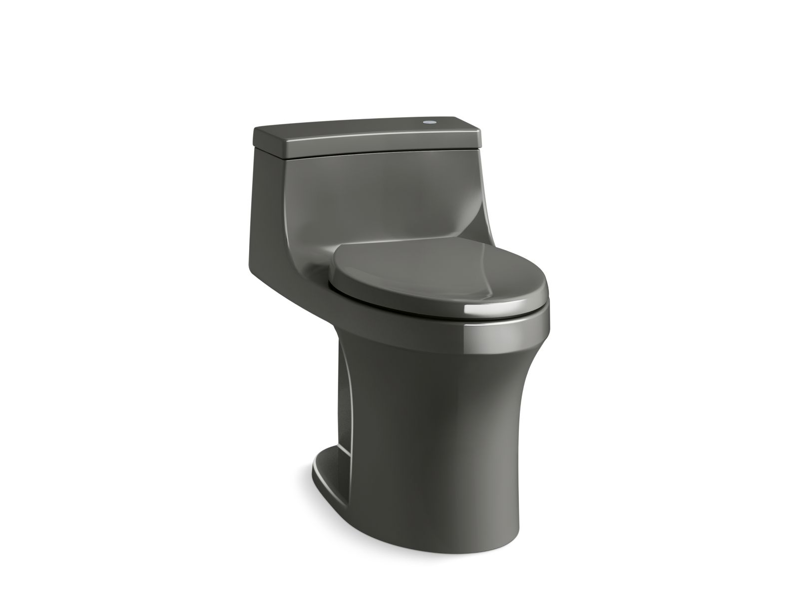 Kohler San Souci™ K-4000-58 Touchless Comfort Height® one-piece compact elongated 1.28 gpf toilet with AquaPiston® flushing technology Thunder Grey