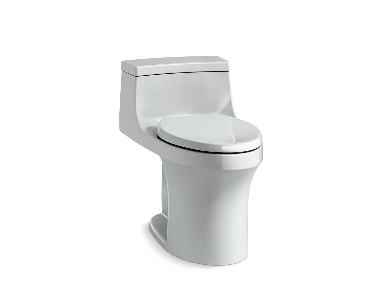 Kohler San Souci™ K-4000-95 Touchless Comfort Height® one-piece compact elongated 1.28 gpf toilet with AquaPiston® flushing technology Ice Grey