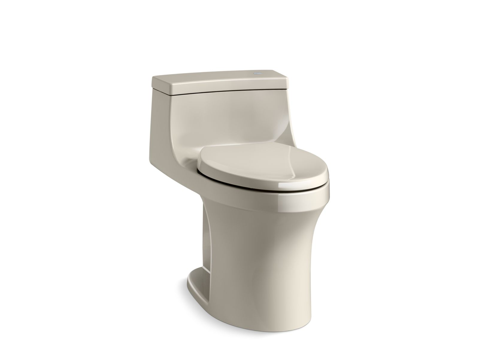 Kohler San Souci™ K-4000-G9 Touchless Comfort Height® one-piece compact elongated 1.28 gpf toilet with AquaPiston® flushing technology Sandbar