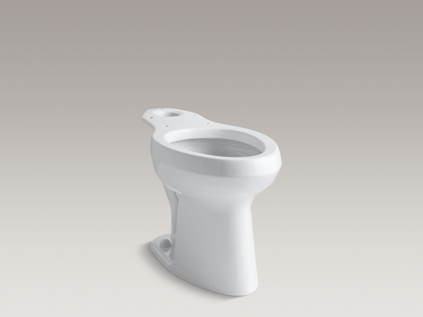 Kohler K-4304-L-0 Highline Elongated Toilet Bowl with Pressure Lite Technology and Bedpan Lugs White