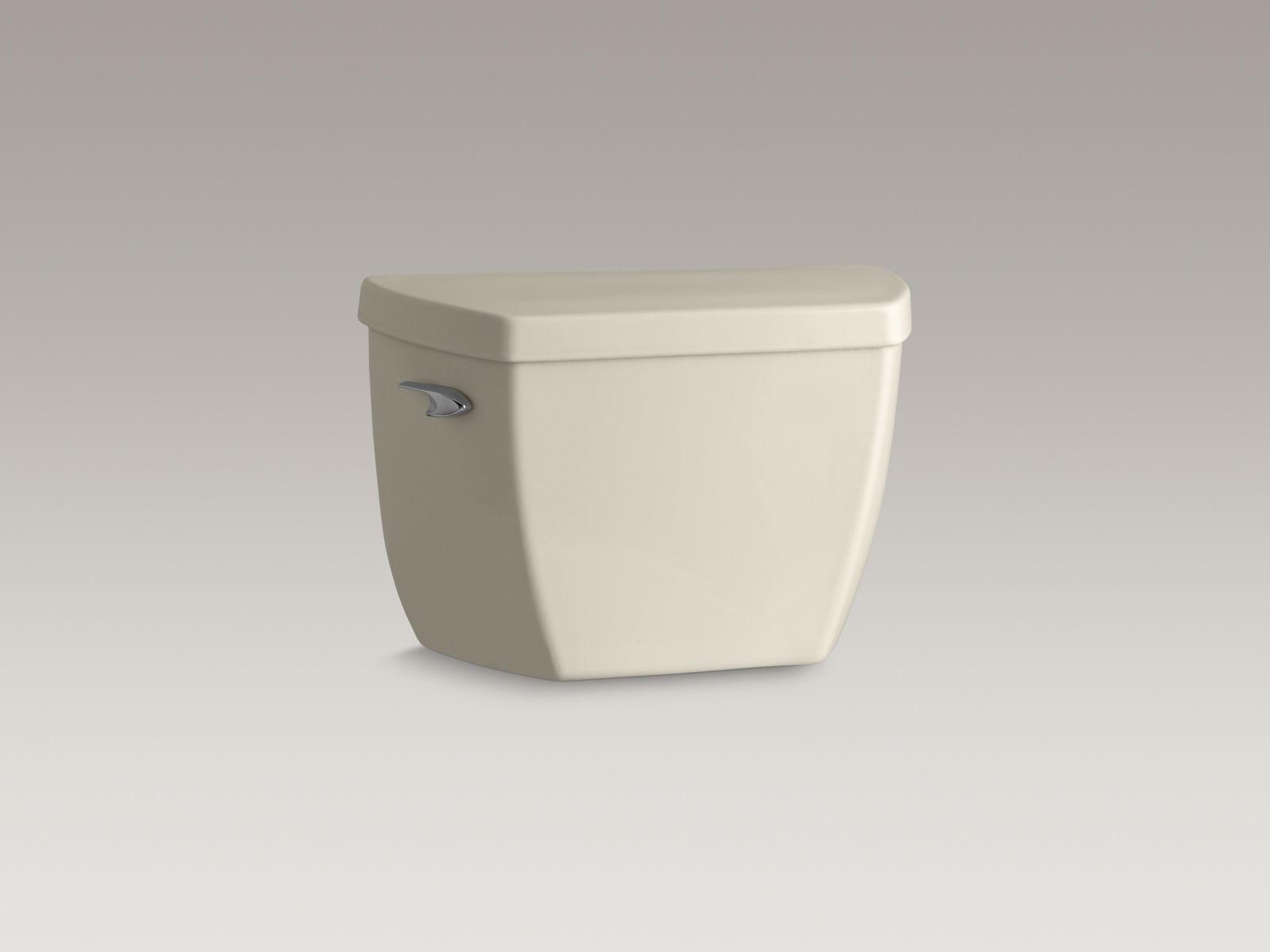 Kohler K-4645-47 Highline Classic 1.6 GPF Pressure Lite Toilet Tank with Left-hand Trip Lever Almond