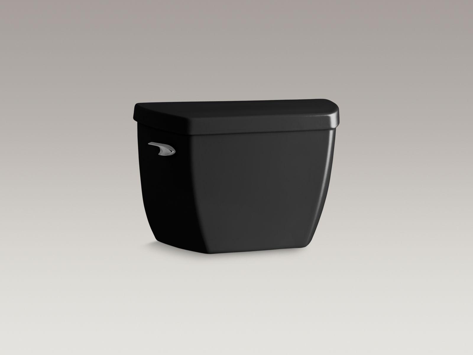 Kohler K-4645-7 Highline Classic 1.6 GPF Pressure Lite Toilet Tank with Left-hand Trip Lever Black