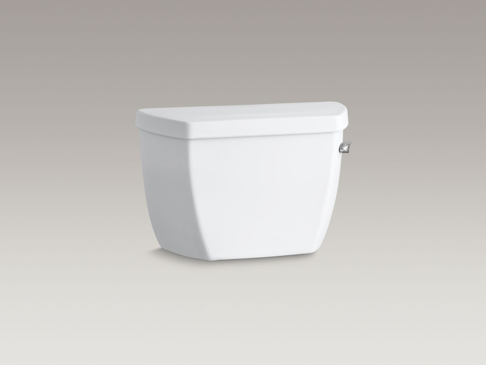 Kohler K-4645-TR-0 Highline Classic 1.6 GPF Pressure Lite Toilet Tank with Right-hand Trip Lever and Cover Locks White