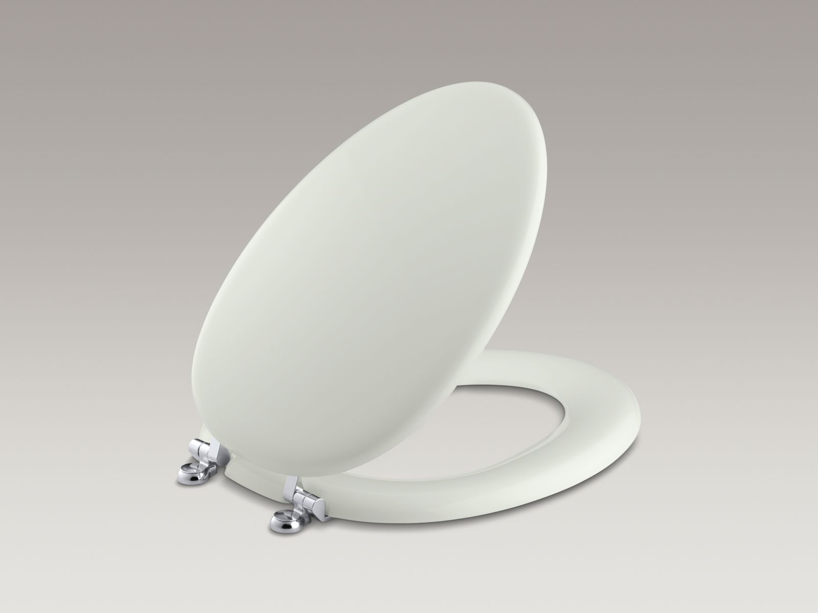 Kohler K-4701-CP-NY Kathryn Elongated Toilet Seat with Polished Chrome Hinges Dune