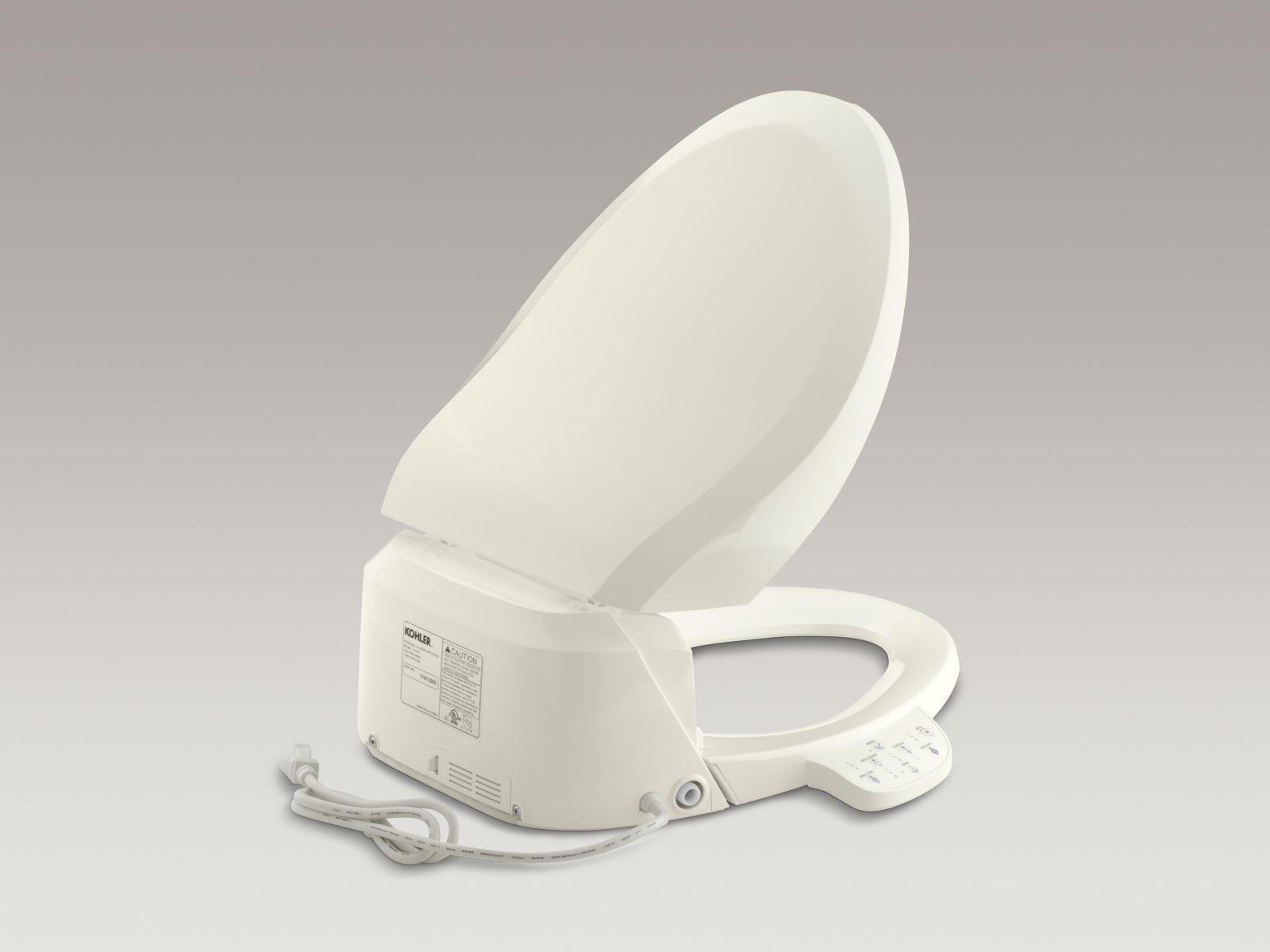 Kohler K-4737-96 C3-125 Elongated Bowl Toilet Seat with Bidet Functionality Biscuit