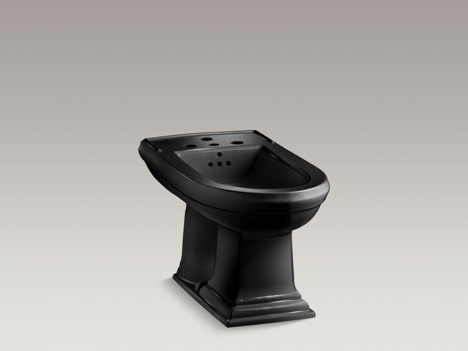 Kohler K-4886-7 Memoirs Vertical Spray Bidet with 4 Faucet Holes Black