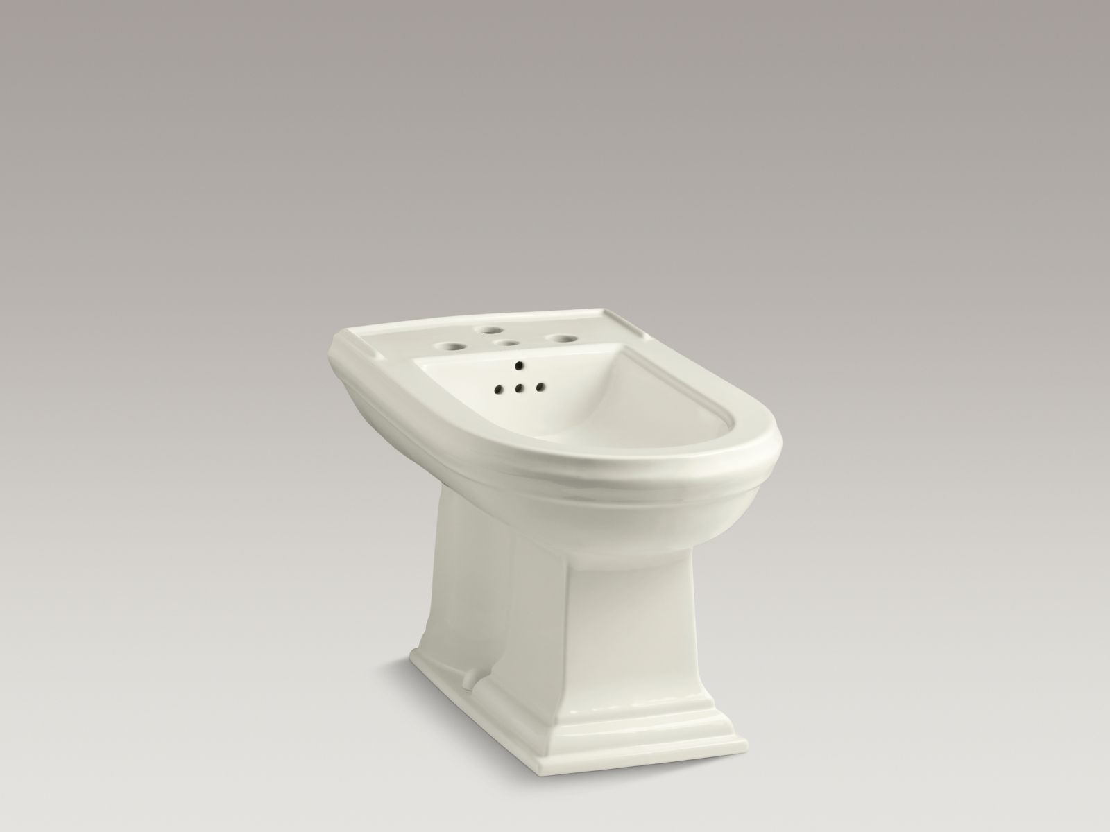 Kohler K-4886-96 Memoirs Vertical Spray Bidet with 4 Faucet Holes Biscuit