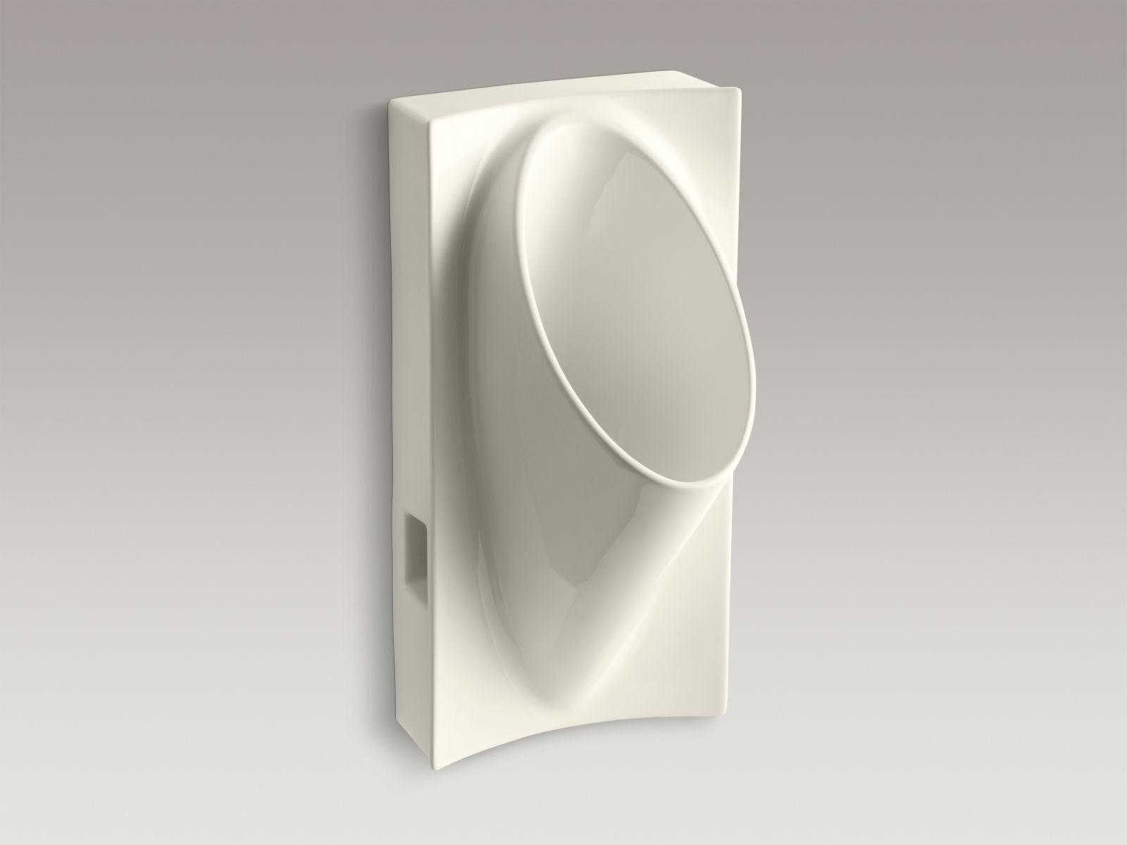 "Kohler K-4918-96 Steward Waterless 15"" x 30"" x 16"" Wall-mounted Urinal Biscuit"