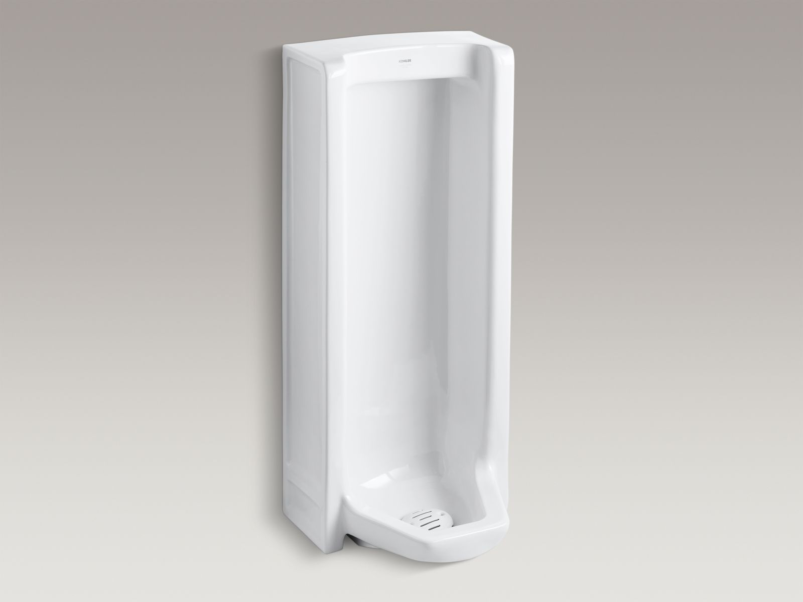 Kohler K-4920-R-0 Branham Floor-mounted 1 GPF Washout Urinal with Rear Spud White