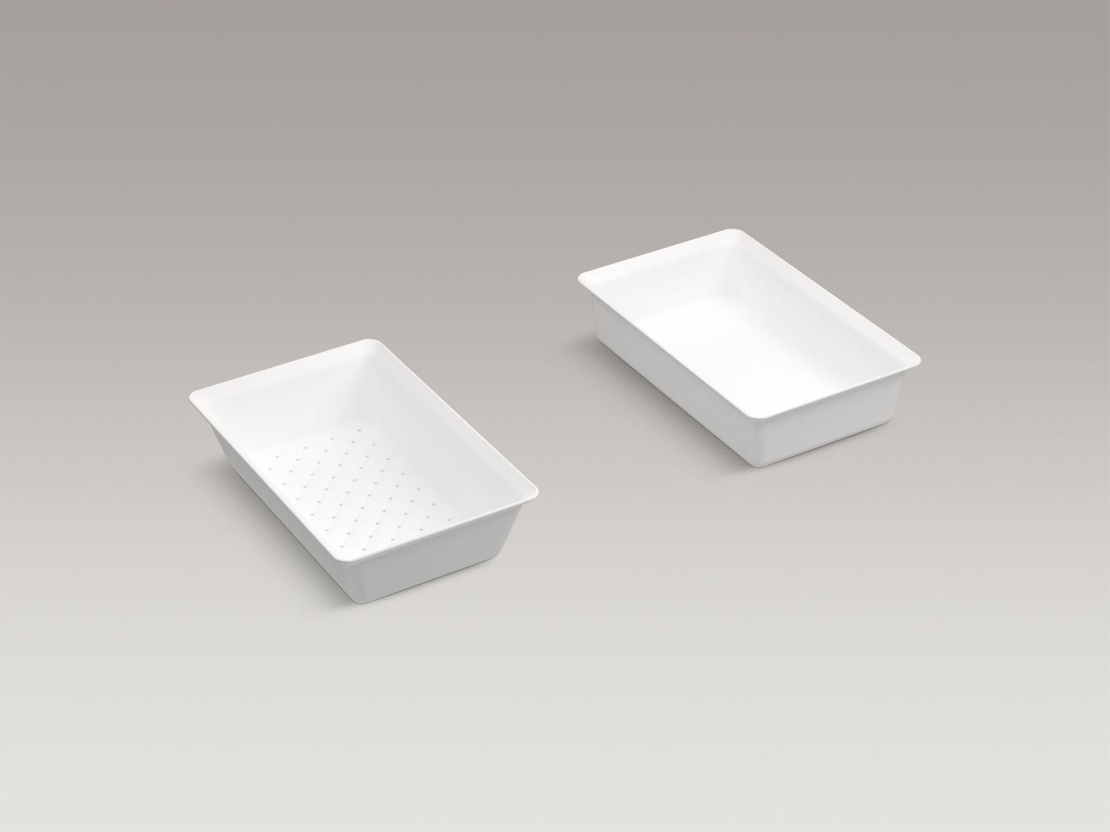 Kohler Prolific™ K-5544-0 colander and washbin White