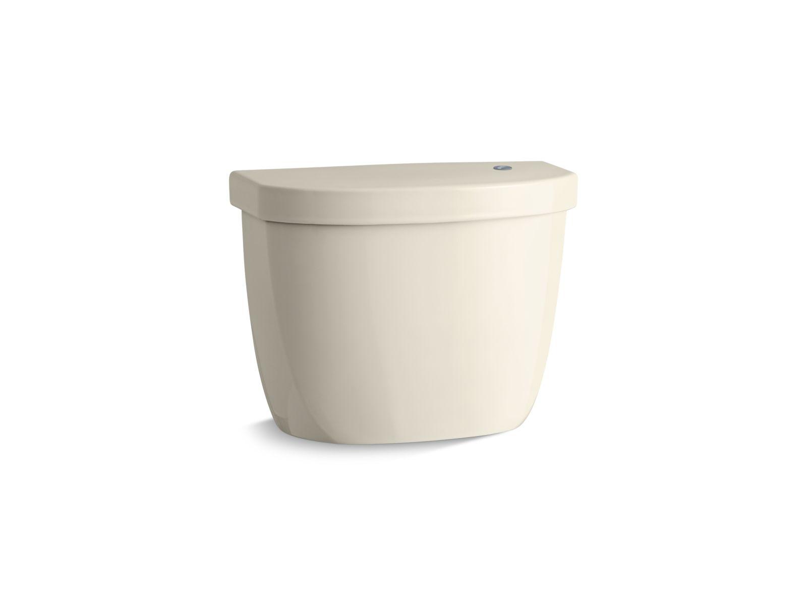 Kohler Cimarron® K-5693-47 tank for K-6419 round-front touchless toilet Almond