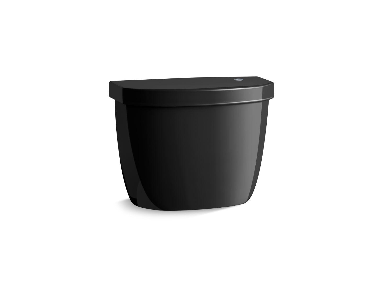 Kohler Cimarron® K-5693-7 tank for K-6419 round-front touchless toilet Black Black