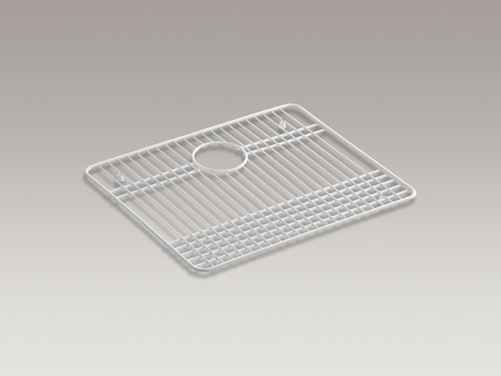 "Kohler Gilford™ K-6013-ST Vinyl coated steel sink rack, 16-1/2"" x 20-1/8"" Stainless Steel"