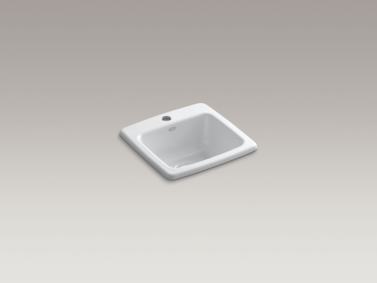 Kohler K-6015-1-0 Gimlet Self-rimming Single-bowl Bar Sink with Single Faucet Hole White