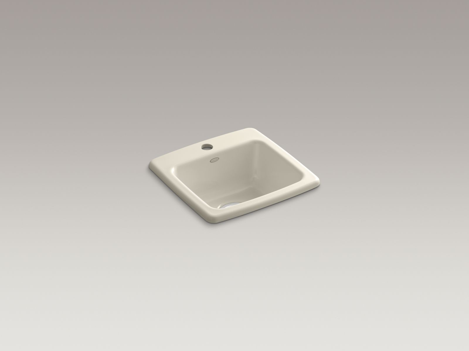 Kohler K-6015-1-47 Gimlet Self-rimming Single-bowl Bar Sink with Single Faucet Hole Almond