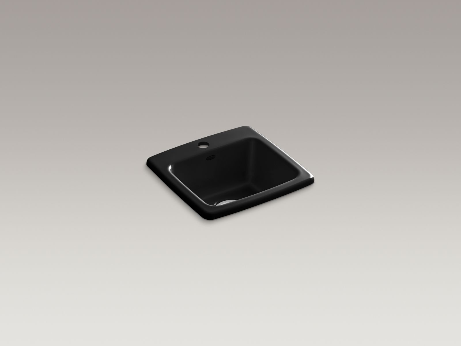 Kohler K-6015-1-7 Gimlet Self-rimming Single-bowl Bar Sink with Single Faucet Hole Black Black