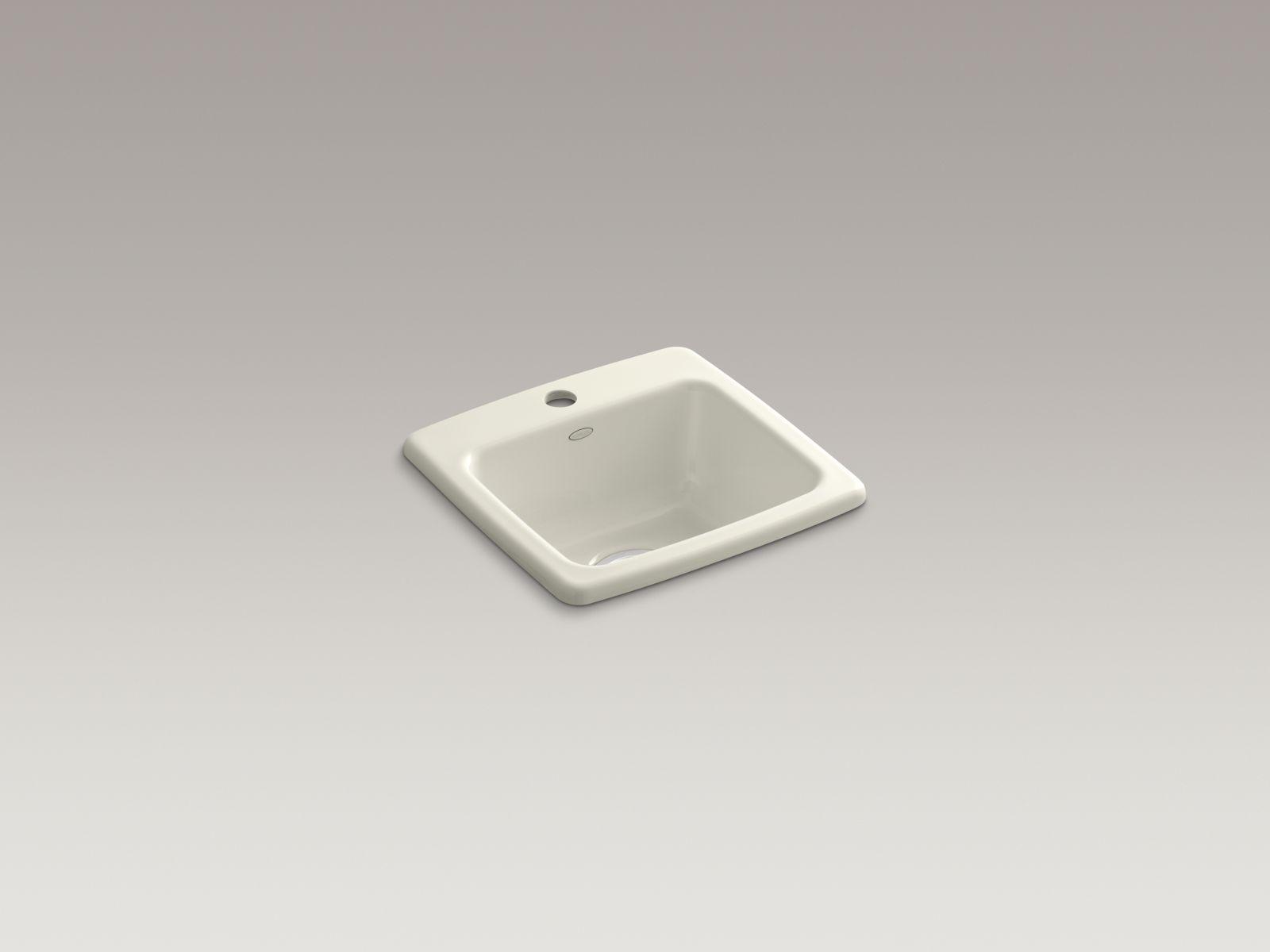 Kohler K-6015-1-96 Gimlet Self-rimming Single-bowl Bar Sink with Single Faucet Hole Biscuit