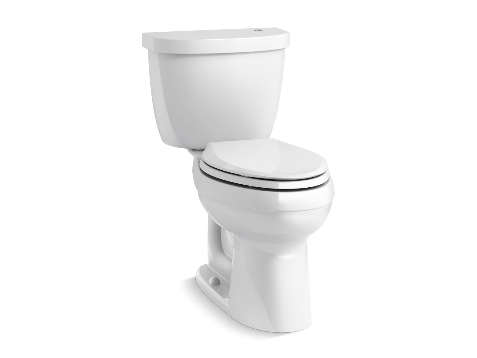 Kohler Cimarron® K-6418-0 Touchless Comfort Height® two-piece elongated 1.28 gpf toilet with AquaPiston® flushing technology White