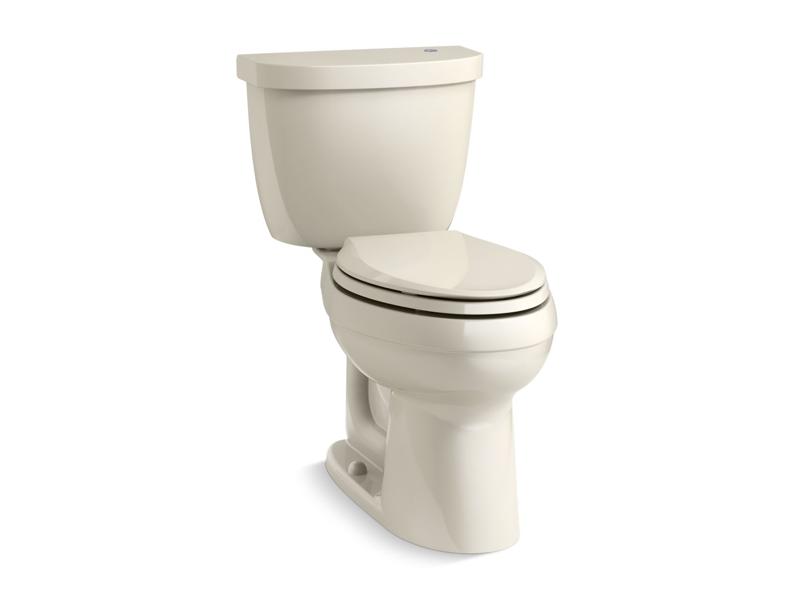 Kohler Cimarron® K-6418-47 Touchless Comfort Height® two-piece elongated 1.28 gpf toilet with AquaPiston® flushing technology Almond