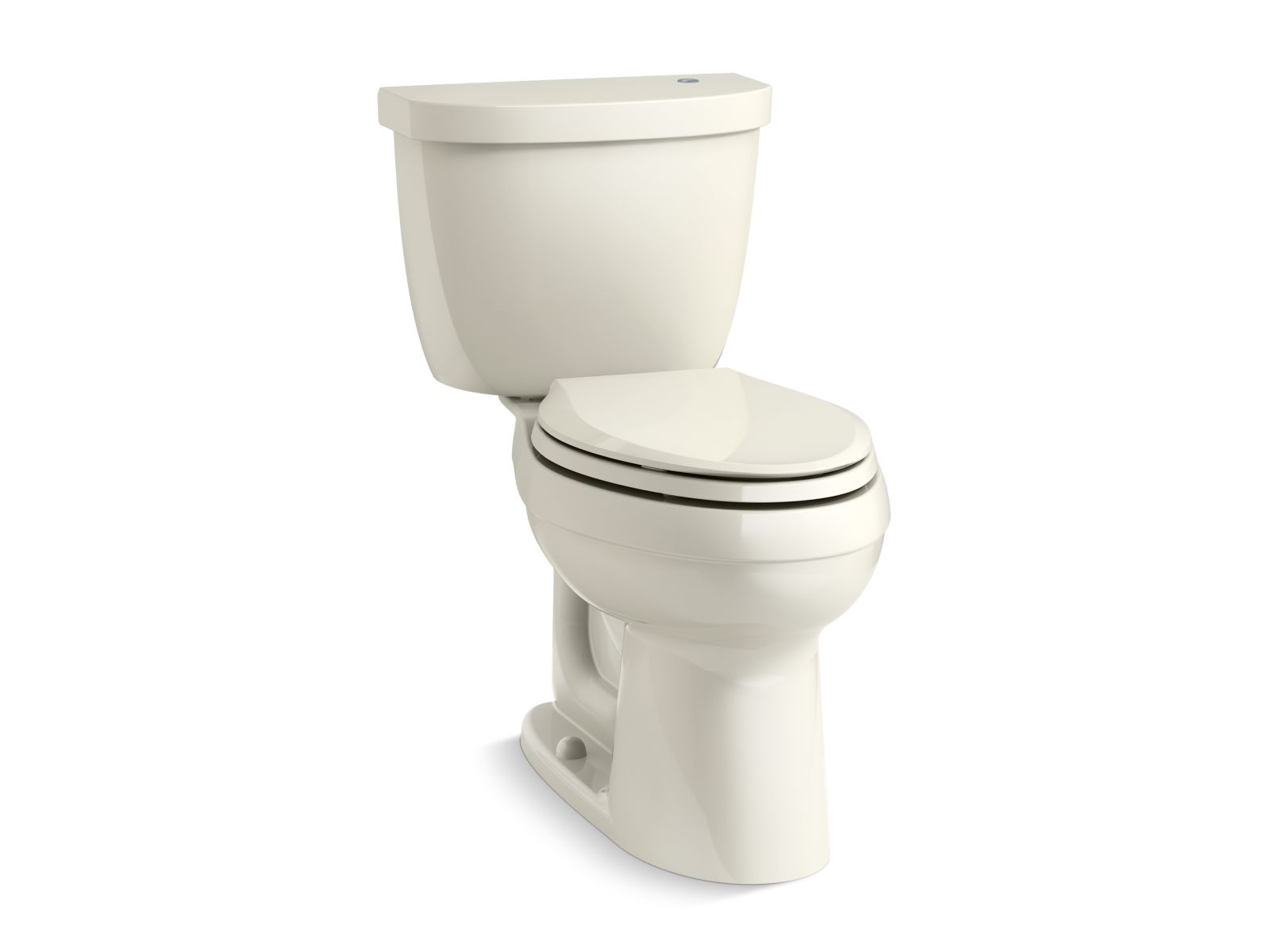 Kohler Cimarron® K-6418-96 Touchless Comfort Height® two-piece elongated 1.28 gpf toilet with AquaPiston® flushing technology Biscuit