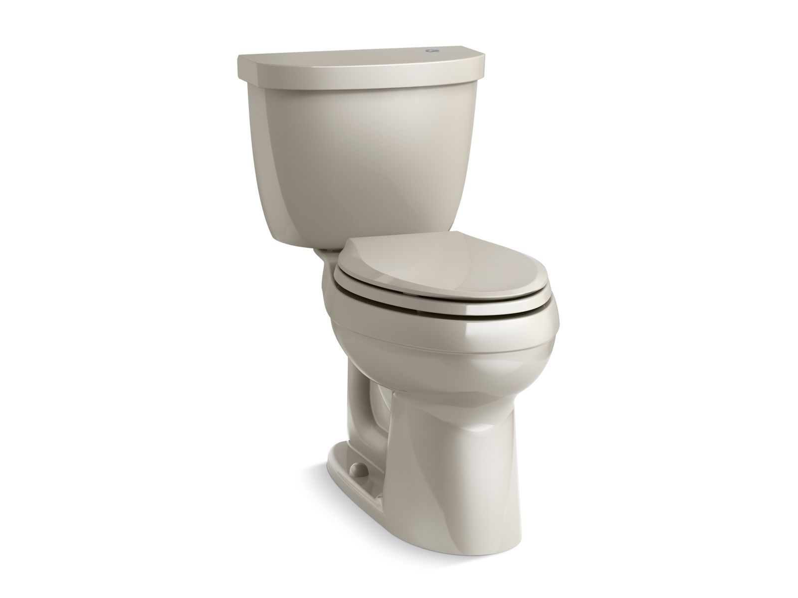 Kohler Cimarron® K-6418-G9 Touchless Comfort Height® two-piece elongated 1.28 gpf toilet with AquaPiston® flushing technology Sandbar