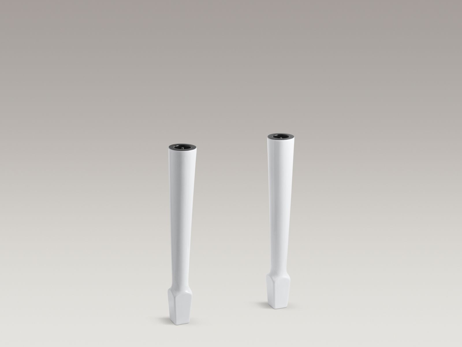 "Kohler K-6617-0 Harborview Pair of 27"" High Fireclay Legs White"