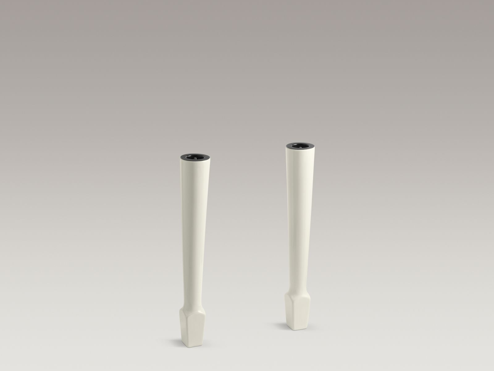 "Kohler K-6617-96 Harborview Pair of 27"" High Fireclay Legs Biscuit"
