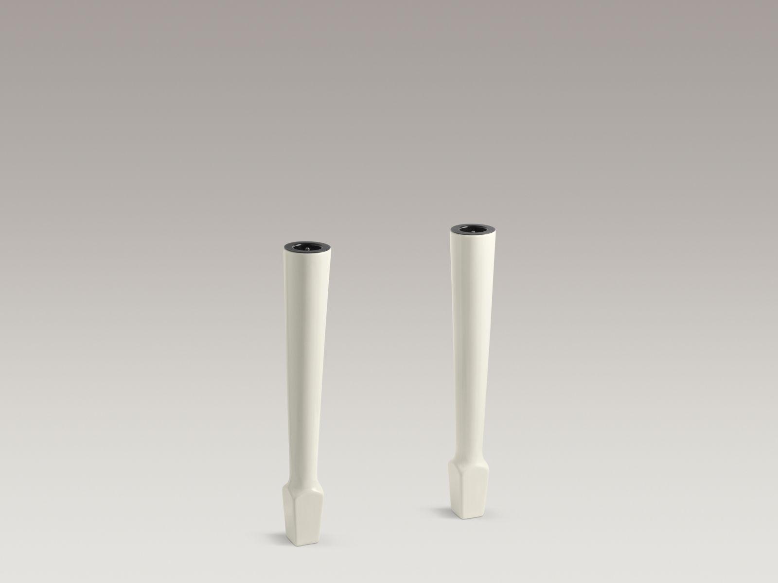 """Kohler K-6617-96 Harborview Pair of 27"""" High Fireclay Legs Biscuit"""