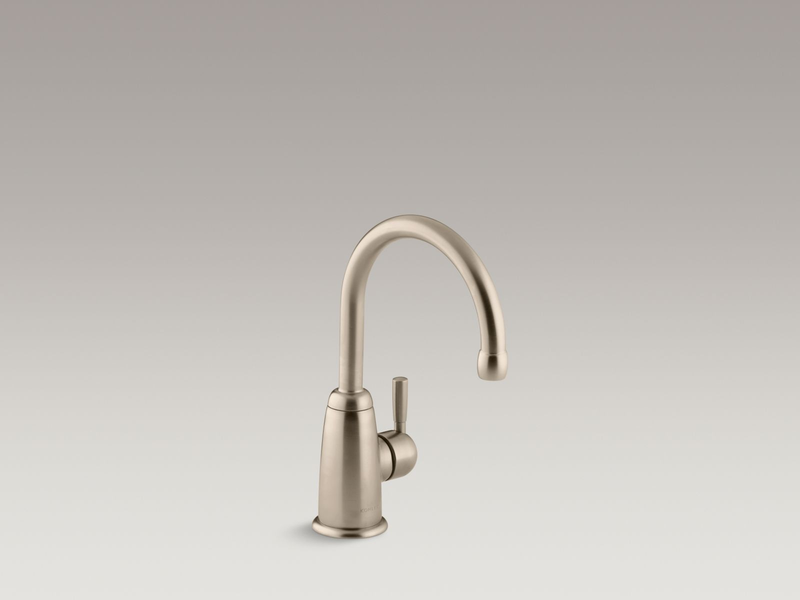 Kohler K-6665-BV Wellspring Single-handle Beverage Faucet with Contemporary Design Brushed Bronze