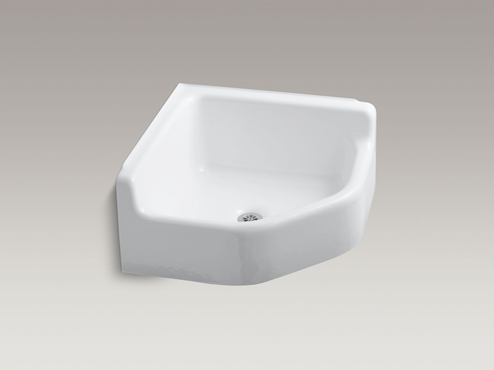 Kohler K-6710-0 Whitby Floor-mounted Corner Service Sink White