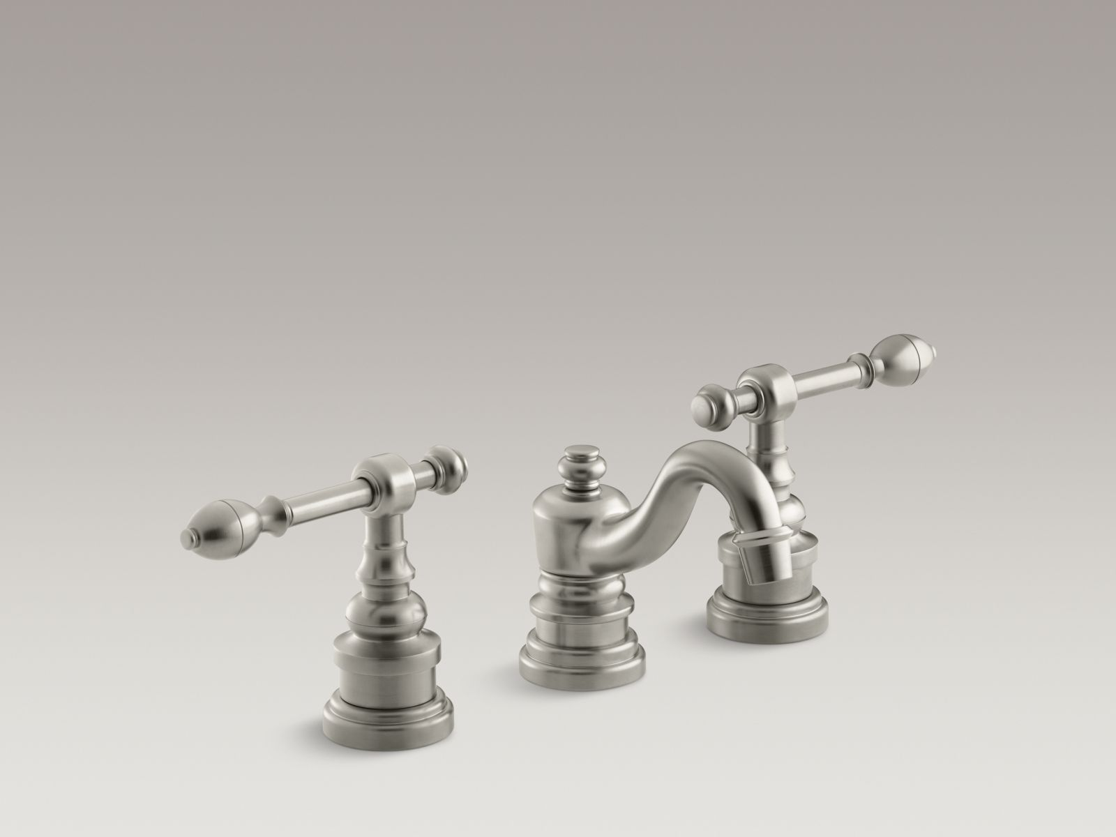Kohler K-6811-4-BN IV Georges Brass Widespread Bathroom Sink Faucet with Lever Handles Vibrant Brushed Nickel