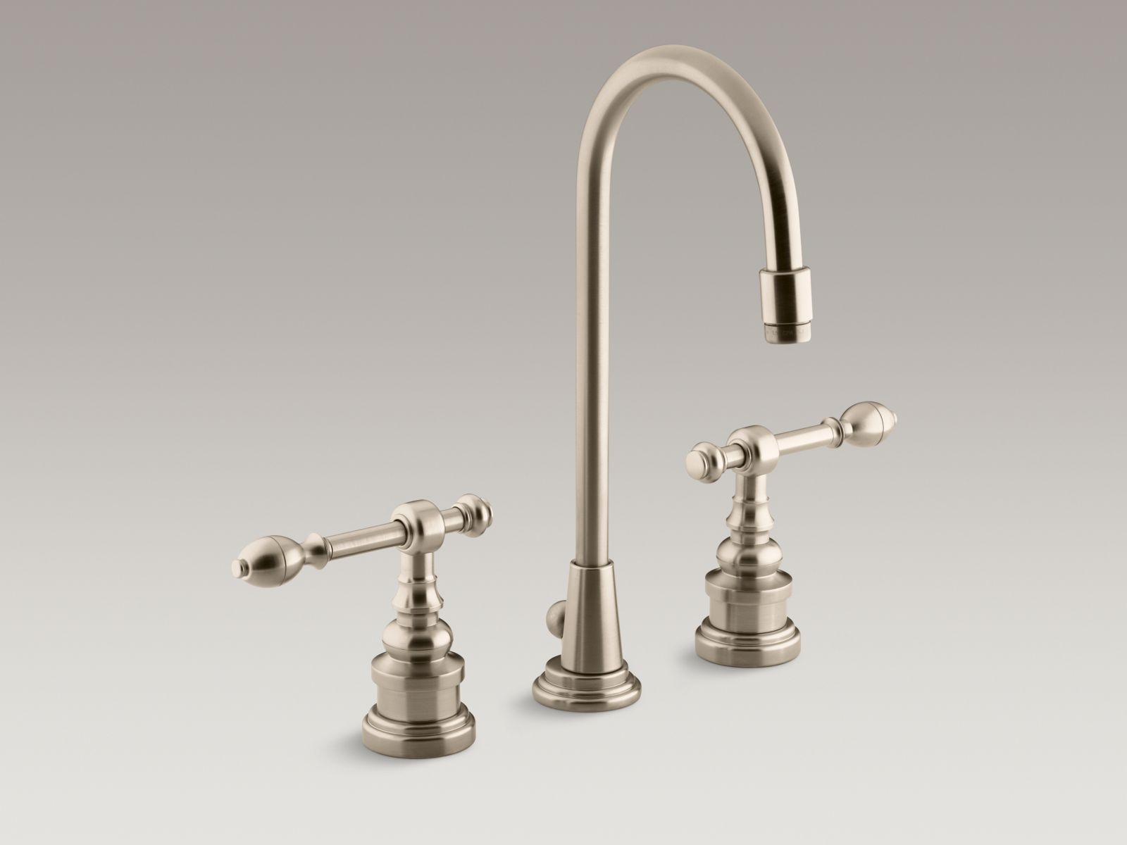 Kohler K-6813-4-BV IV Georges Brass Widespread Bathrom Sink Faucet with High Country Spout and Lever Handles Vibrant Brushed Bronze