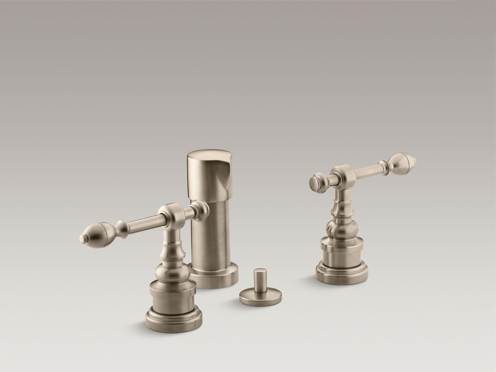 Kohler K-6814-4-BV IV Georges Brass Vertical Spray Bidet Faucet with Lever Handles Vibrant Brushed Bronze